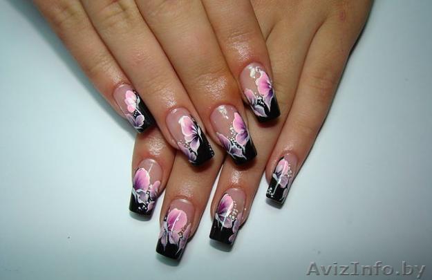 наращивание ногтей аквариумный дизайн фото: